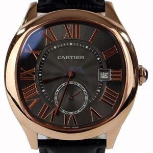 Cartier Drive De Cartier Wgnm0004 Kello Harmaa / Nahka