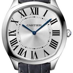 Cartier Drive De Cartier Wgnm0007 Kello Hopea / Nahka