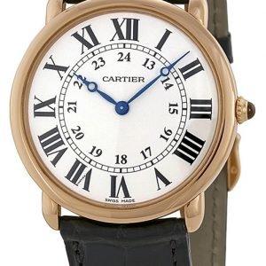 Cartier Ronde Lc W6800251 Kello Hopea / Nahka
