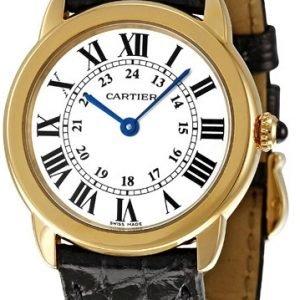Cartier Ronde Solo W6700355 Kello Hopea / Nahka