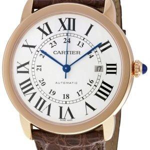 Cartier Ronde W6701009 Kello Hopea / Nahka