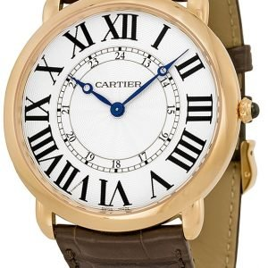 Cartier Ronde W6801004 Kello Hopea / Nahka