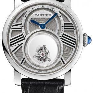 Cartier Rotonde De Cartier W1556210 Kello Hopea / Nahka