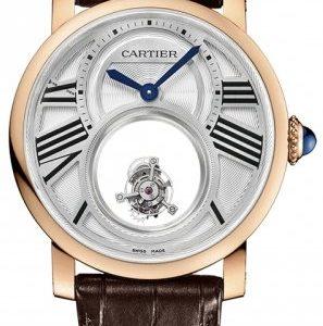 Cartier Rotonde De Cartier W1556230 Kello Hopea / Nahka