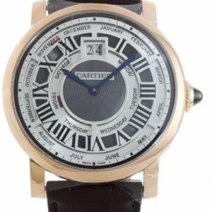 Cartier Rotonde Quantieme Annuel W1580001 Kello Hopea / Nahka
