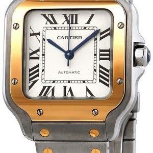Cartier Santos 100 W2sa0007 Kello Valkoinen / 18k Keltakultaa