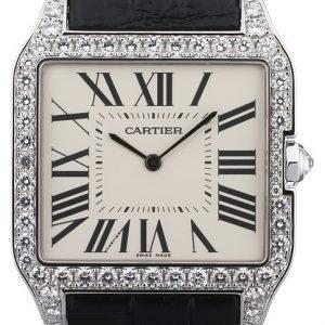 Cartier Santos Dumont Wh100651 Kello Hopea / Nahka