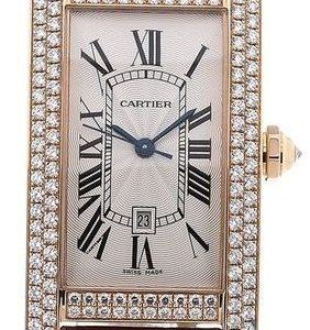 Cartier Tank Americaine Wb704751 Kello Hopea / Nahka