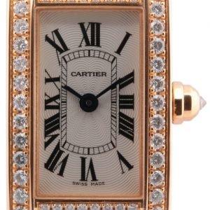 Cartier Tank Americaine Wb710014 Kello Hopea / Nahka