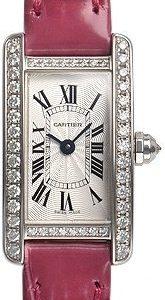 Cartier Tank Americaine Wb710015 Kello Hopea / Nahka