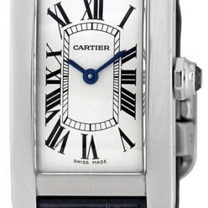 Cartier Tank Americaine Wsta0016 Kello Hopea / Nahka
