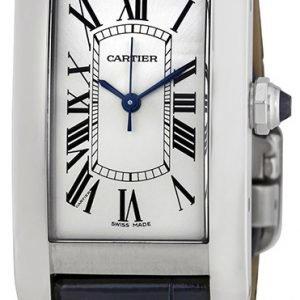 Cartier Tank Americaine Wsta0017 Kello Hopea / Nahka