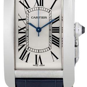 Cartier Tank Americaine Wsta0018 Kello Hopea / Nahka