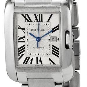 Cartier Tank Anglaise W5310009 Kello Hopea / Teräs