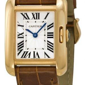 Cartier Tank Anglaise W5310027 Kello Hopea / Nahka