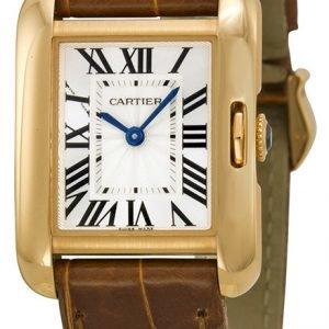 Cartier Tank Anglaise W5310042 Kello Hopea / Nahka