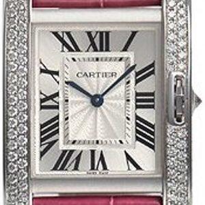 Cartier Tank Anglaise Wt100030 Kello Hopea / Nahka
