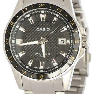 Casio Casio Collection Mtp-1290d-1a2vef Kello Musta / Teräs