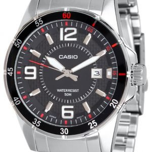 Casio Casio Collection Mtp-1291d-1a1vef Kello Musta / Teräs