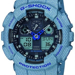 Casio G-Shock Ga-100de-2aer Kello Sininen / Muovi