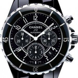 Chanel J12 Chronograph H0940 Kello Musta / Keraaminen