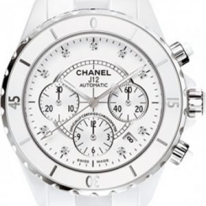 Chanel J12 Chronograph H2009 Kello Valkoinen / Keraaminen