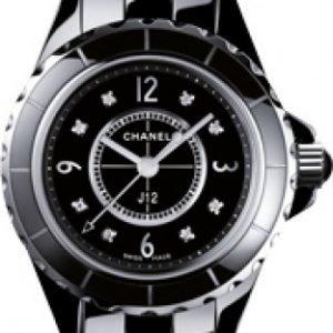 Chanel J12 H2569 Kello Musta / Keraaminen