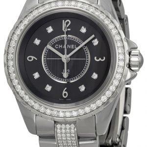 Chanel J12 H3105 Kello Musta / Keraaminen
