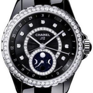 Chanel J12 H3407 Kello Musta / Keraaminen