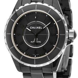 Chanel J12 H3829 Kello Musta / Keraaminen