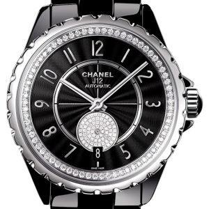Chanel J12 H3840 Kello Musta / Keraaminen