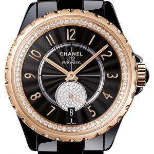 Chanel J12 H3842 Kello Musta / Keraaminen
