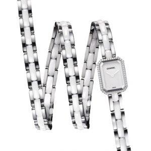 Chanel Premiere H3059 Kello Valkoinen / Keraaminen