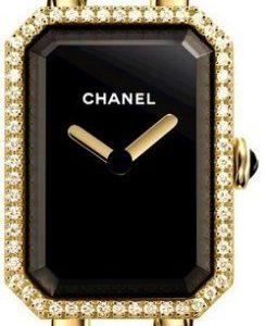 Chanel Premiere H3258 Kello Musta / 18k Keltakultaa