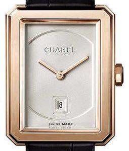 Chanel Premiere H4313 Kello Hopea / Nahka