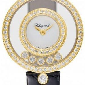 Chopard Happy Diamonds 203957-0201 Kello Valkoinen / Nahka