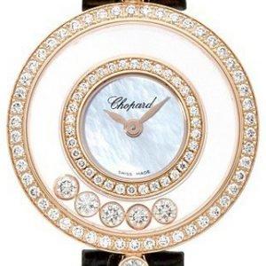 Chopard Happy Diamonds 203957-5208 Kello Valkoinen / Nahka