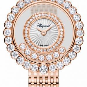 Chopard Happy Diamonds 204180-5201 Kello Hopea / 18k Punakultaa