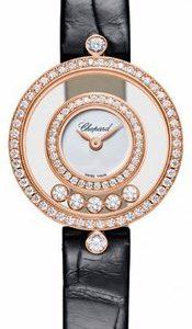 Chopard Happy Diamonds 209415-1001 Kello Hopea / Nahka
