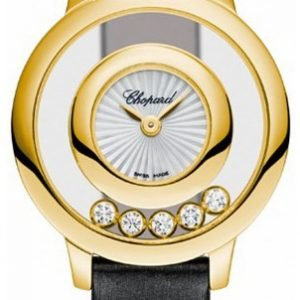 Chopard Happy Diamonds 209417-0001 Kello Hopea / Satiini