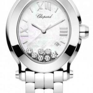 Chopard Happy Sport 278546-3003 Kello Valkoinen / Teräs