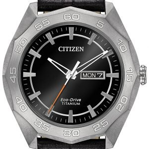 Citizen Aw0060-03e Kello Musta / Nahka