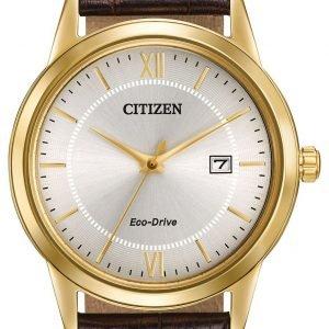 Citizen Aw1232-04a Kello Hopea / Nahka