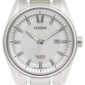 Citizen Aw1240-57a Kello Hopea / Titaani