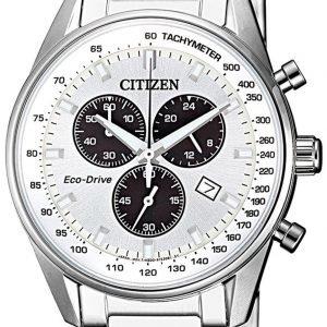 Citizen Chrono At2390-82a Kello Hopea / Teräs