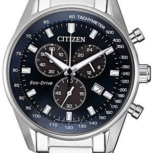 Citizen Chrono At2390-82l Kello Sininen / Teräs