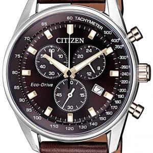 Citizen Chrono At2396-19x Kello Ruskea / Nahka