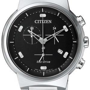 Citizen Chrono At2400-81e Kello Musta / Teräs