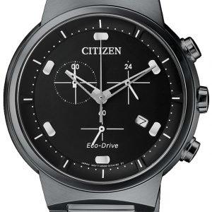 Citizen Chrono At2405-87e Kello Musta / Teräs
