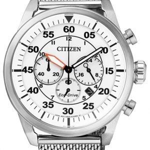 Citizen Chrono Ca4210-59a Kello Valkoinen / Teräs